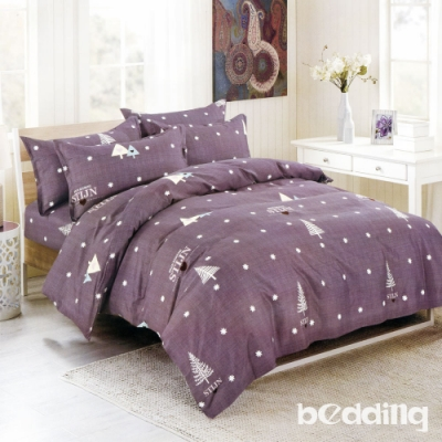 BEDDING-活性印染單人全鋪棉床包兩用被套三件組-愛之森林