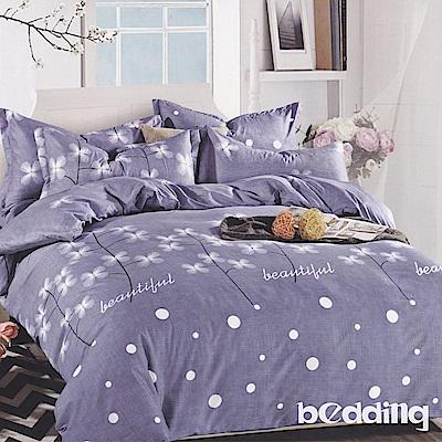 BEDDING-活性印染5尺雙人薄床包涼被組-芊芊花朵