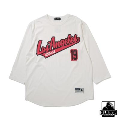 XLARGE BASEBALL H/S TEE短袖T恤-白