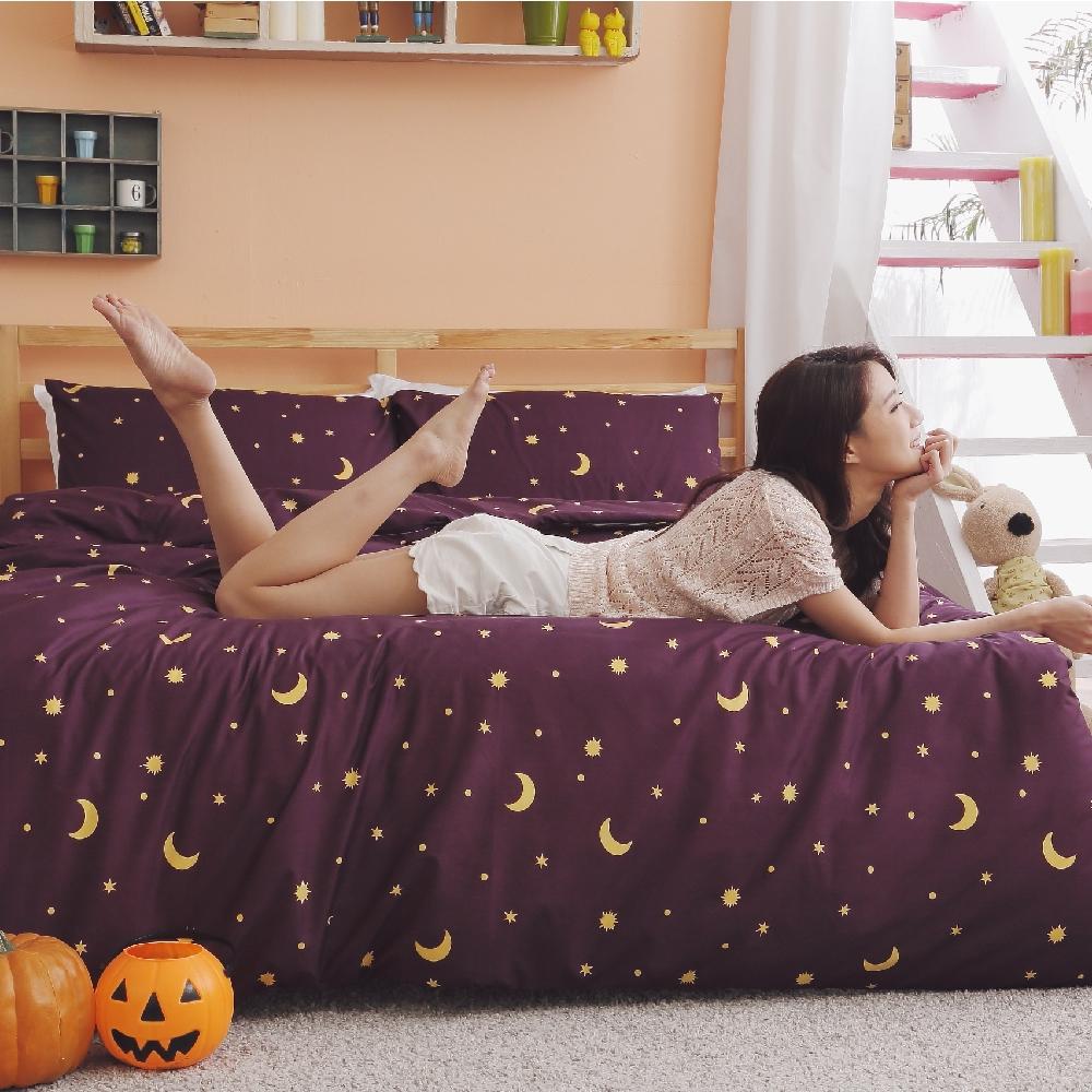 BUHO 雙人加大三件式床包枕套組(多款任選-A)