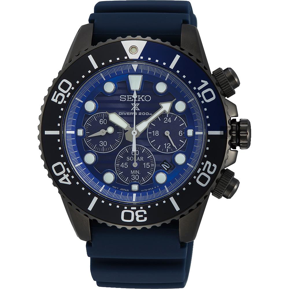 SEIKO精工 PROSPEX 愛海洋太陽能計時手錶(SSC701P1)