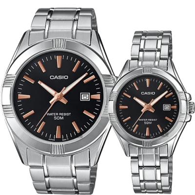 CASIO 卡西歐情侶手錶對錶 MTP-1308D-1A2V+LTP-1308D-1A2V
