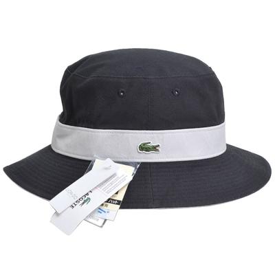 [時時樂限定]LACOSTE 品牌鱷魚刺繡LOGO圖騰雙面用遮陽帽