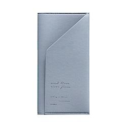 ICONIC 金釦對折護照長夾-鐵灰藍