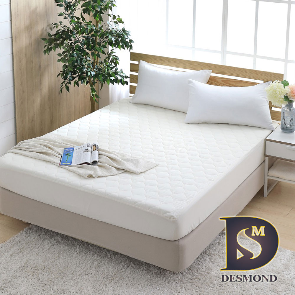 DESMOND MIT高效能防潑水保潔墊 雙人(鋪棉款/3M防潑水技術/馬卡龍/米白)
