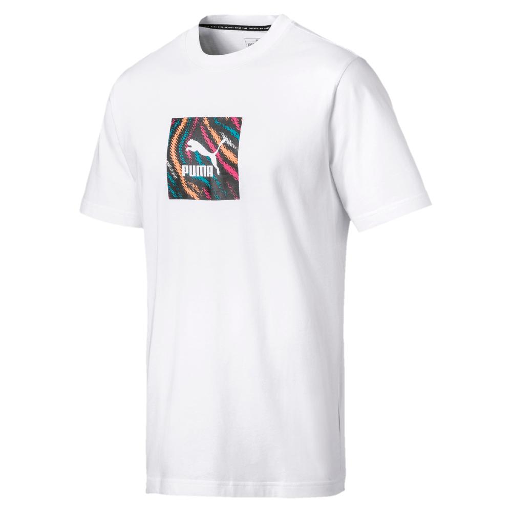 PUMA-男性流行系列Wild短袖T恤-白色-歐規