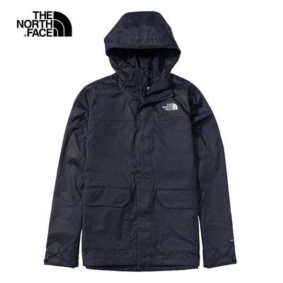 The North Face 男 深藍色防水透氣連帽衝鋒衣-NF0A4NEDRG1