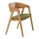 【AT HOME】北歐鄉村綠布實木腳餐椅/休閒椅/工作椅/洽談椅(宮羽) product thumbnail 1