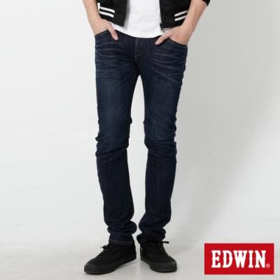 EDWIN E-FUNCTION 機能3D窄管牛仔褲-男-酵洗藍