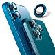 【Ayss】藍寶石鏡頭保護貼 iPhone 12 mini / iPhone 12/莫氏硬度9/金屬邊框/鏡頭全包覆式/AR光學玻璃/疏水疏油-2入-藍 product thumbnail 1