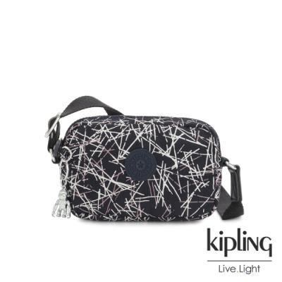 Kipling 英式白漆塗鴉斜側背相機包-SOUTA