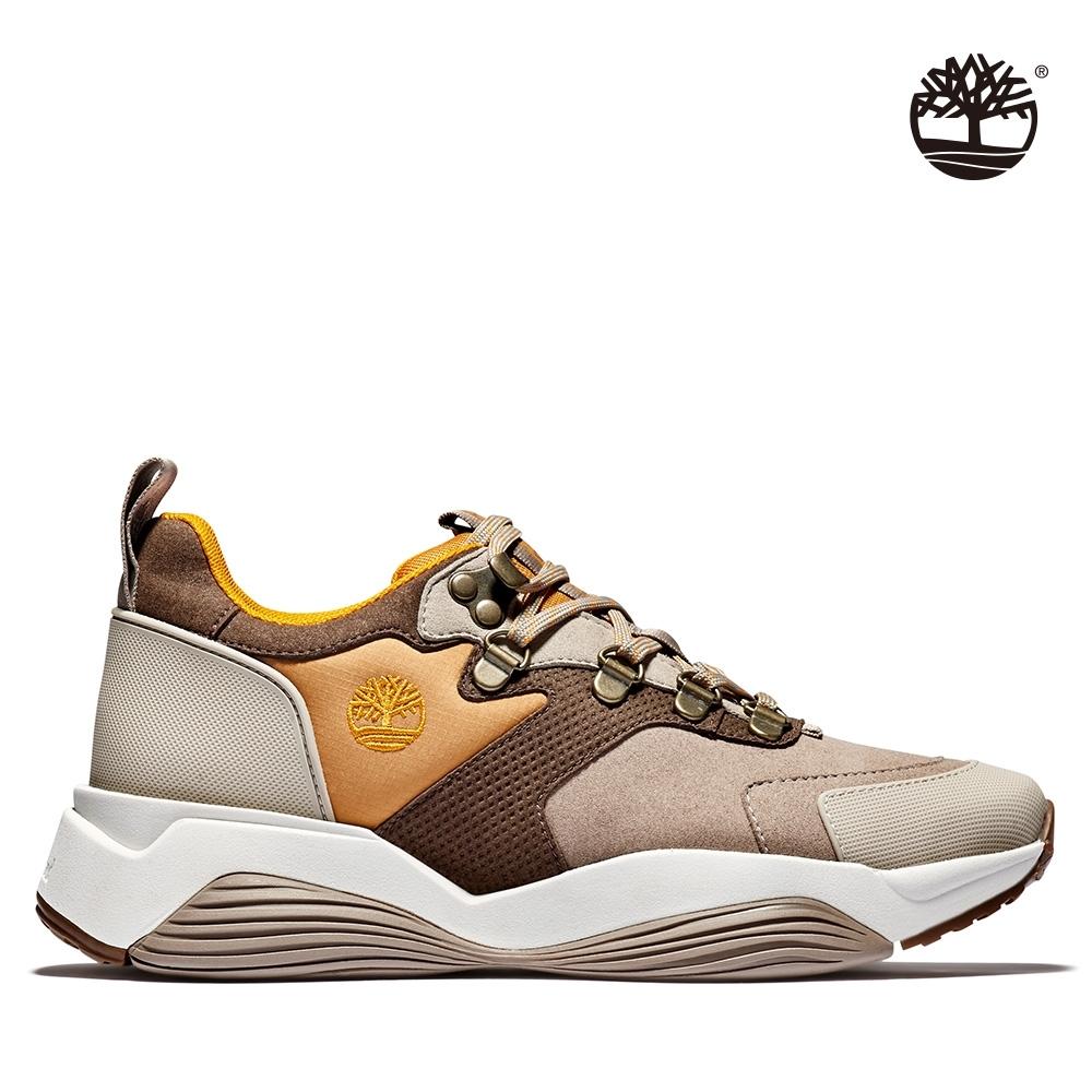 Timberland 女款中褐色合成絨面拼接運動鞋 A1YDC
