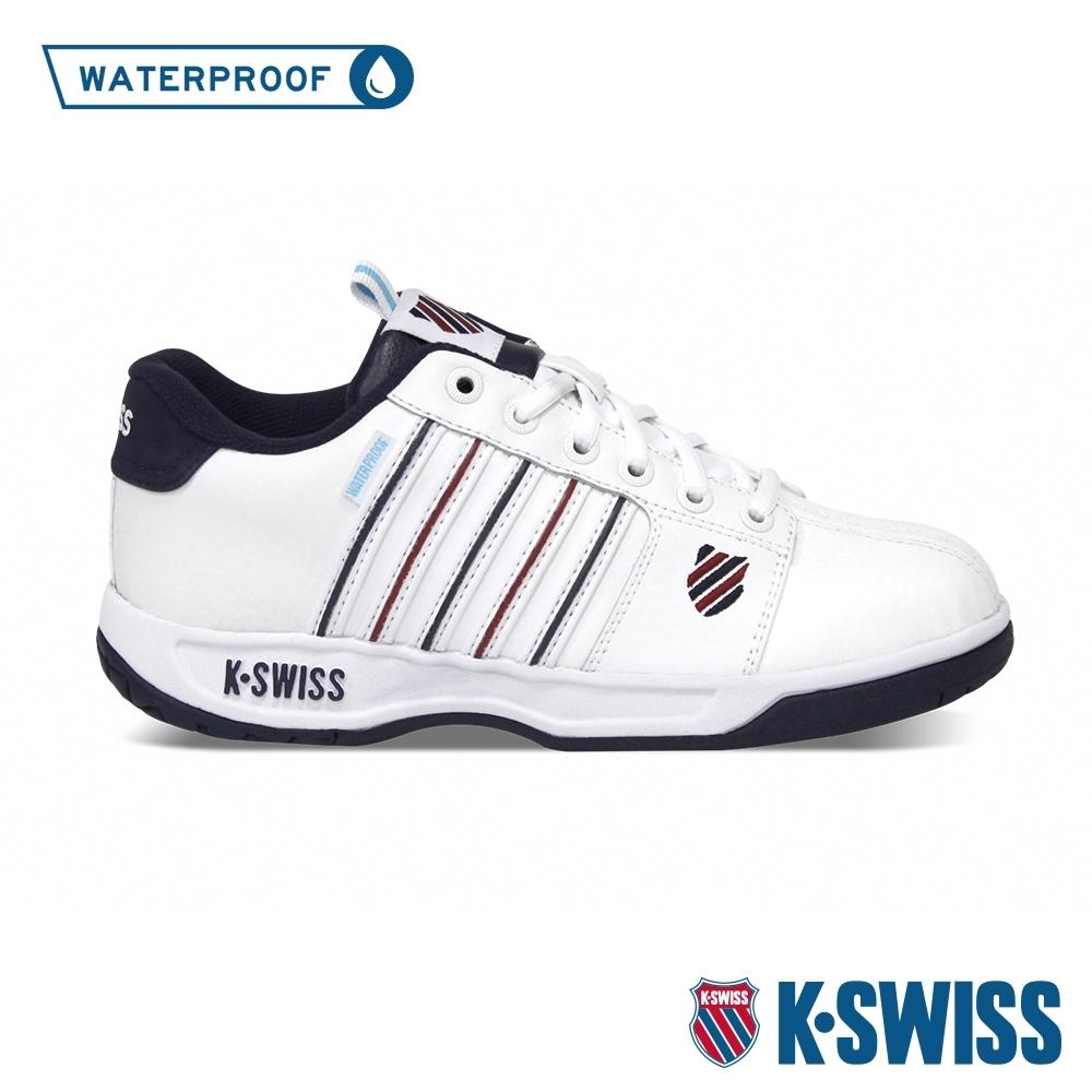 K-SWISS Eadall WP防水系列 復古老爹鞋-男-白/藍/紅