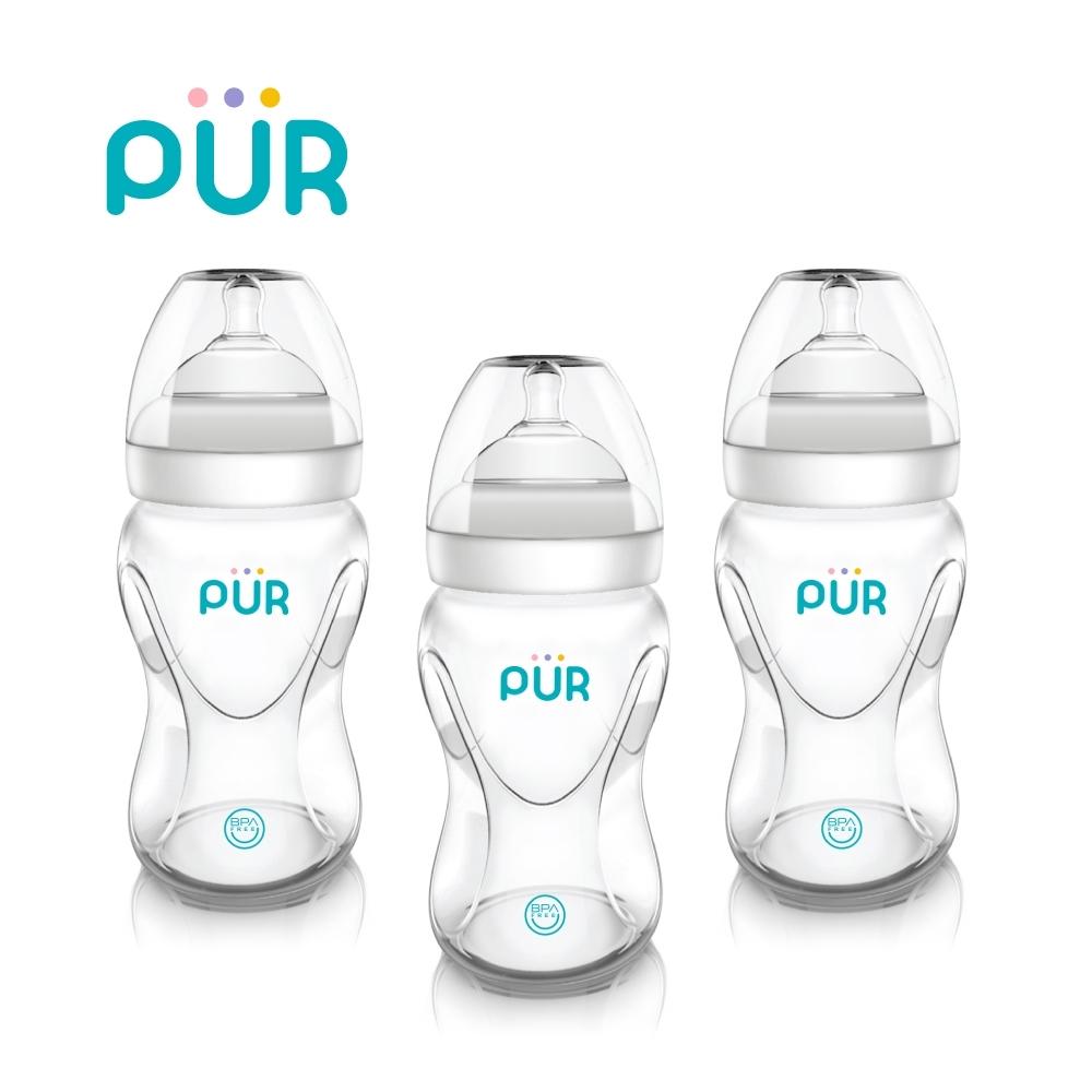 PUR Advanced Pro-flo防脹氣寬口PP奶瓶3入組250ml