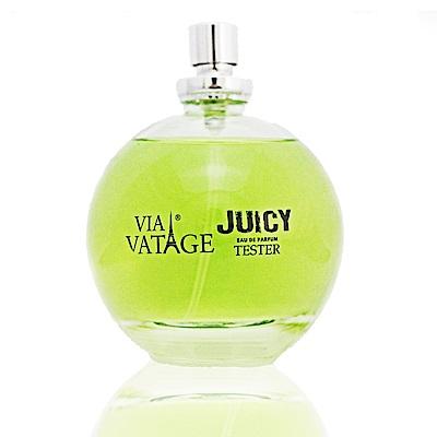 Via Vatage Juicy女性淡香精100ml Tester【無盒無蓋有噴頭】