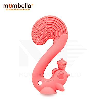 【任選】英國《mombella 》萌萌小松鼠固齒器(粉色)