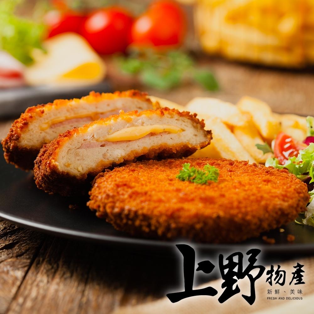 上野物產-酥炸藍帶爆漿起司雞排 (80g±10%/片) x40