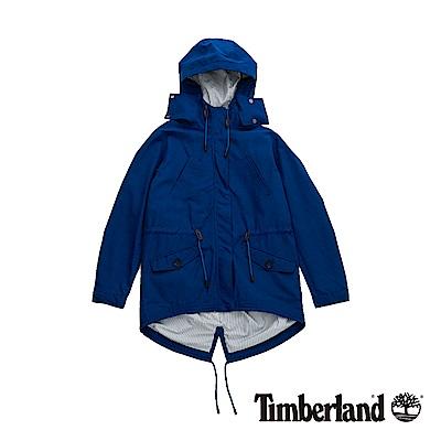 Timberland 女款藍色防潑水連帽外套|B2105