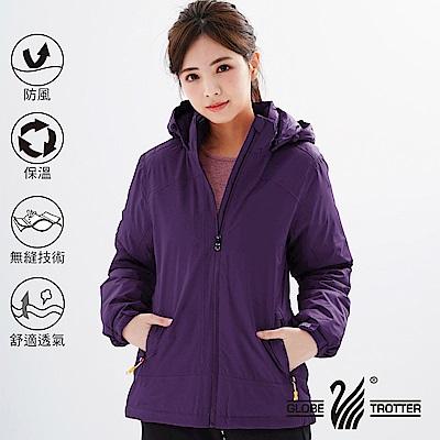 【遊遍天下】女款防風透濕保暖無車縫羽絨機能外套GJ22006深紫