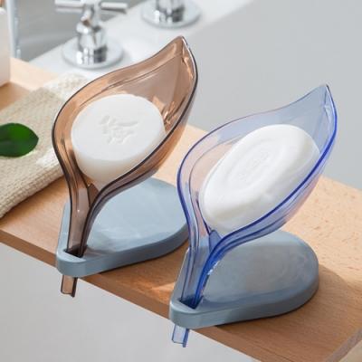 [荷生活]免打孔創意造型樹葉肥皂盒 快速瀝水設計