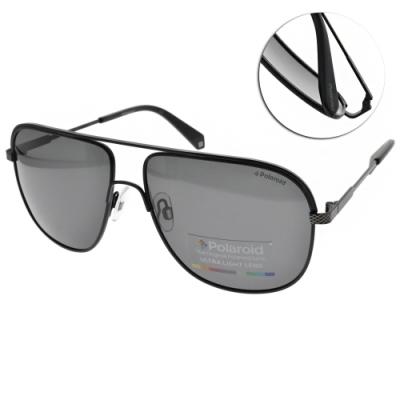 Polaroid 偏光太陽眼鏡 霸氣雙槓款/霧黑 #PLD2055S 003M9