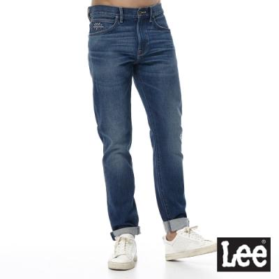 Lee 牛仔褲 705 中腰標準舒適小直筒 男 中藍 四面彈