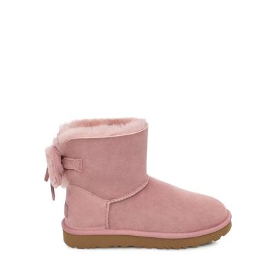 UGG雪靴 經典雙蝴蝶結羊毛短靴