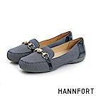 HANNFORT RIPPLE華美珍珠樂福鞋-女-華美藍