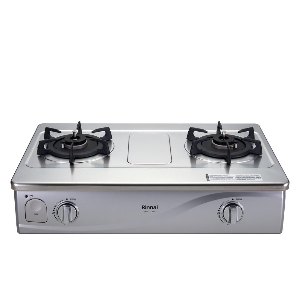 (全省安裝)林內感溫二口爐台爐感溫爐(與RTS-Q230S同款)瓦斯爐桶裝瓦斯RTS-Q230S_LPG