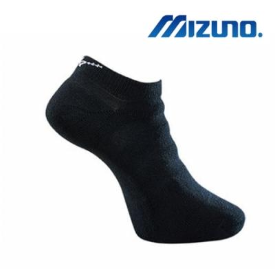Mizuno美津濃 男運動厚底踝襪 (6雙入) 黑x白 32TX901391Q
