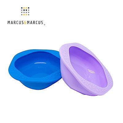 【MARCUS&MARCUS】動物樂園矽膠兒童餐碗2入組-(藍/紫)