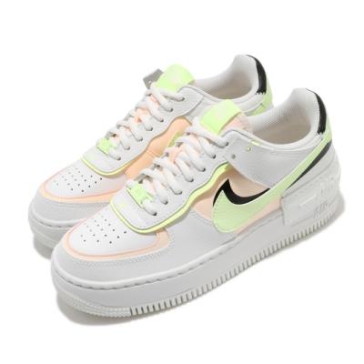 Nike 休閒鞋 AF1 Shadow 運動 女鞋 基本款 舒適 簡約 球鞋 厚底 穿搭 白 粉 CI0919107