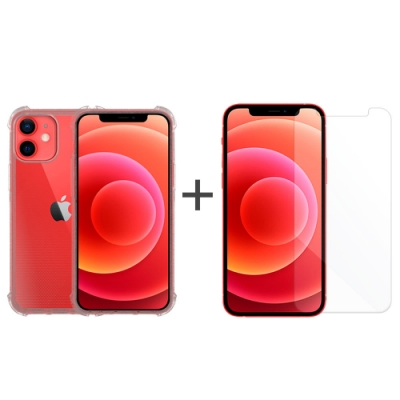 Metal-Slim Apple iPhone 12 mini 強化防摔抗震空壓手機殼+玻璃貼
