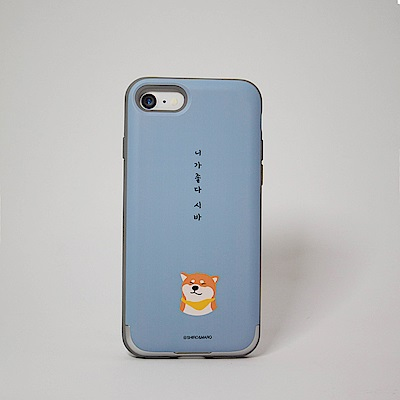 Shiro&Maro(粉藍Shiro款)隨身帶卡片手機殼