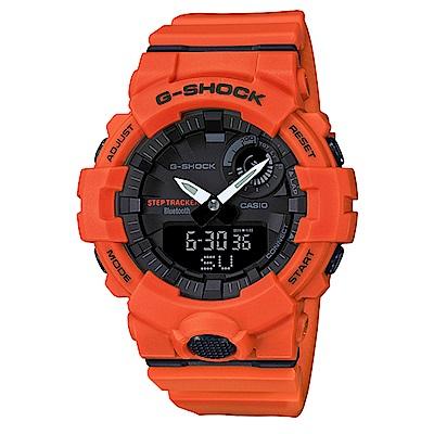 G-SHOCK機能與智能完美科技藍芽連接運動錶(GBA-800-4)橘/48.6mm