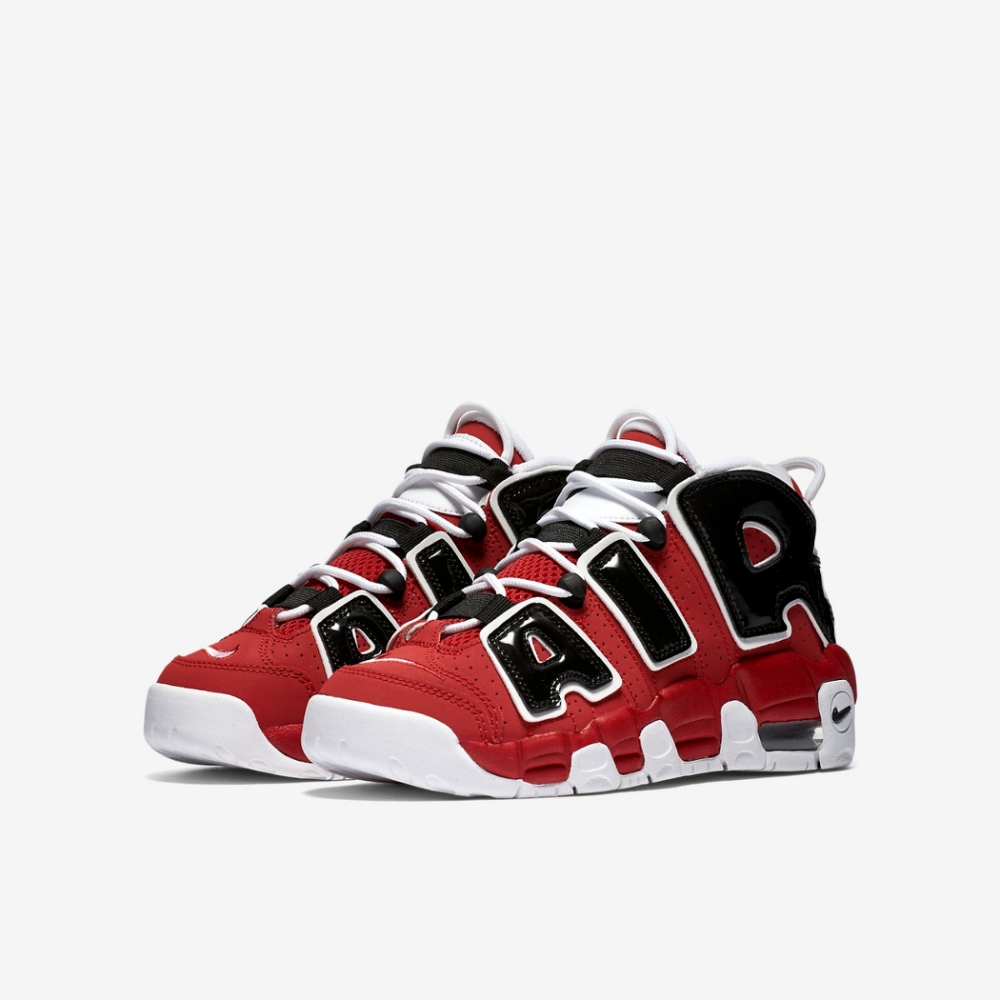Nike 籃球鞋 Air More Uptempo 女鞋  氣墊 舒適 避震 大 AIR 穿搭 黑 紅 415082600