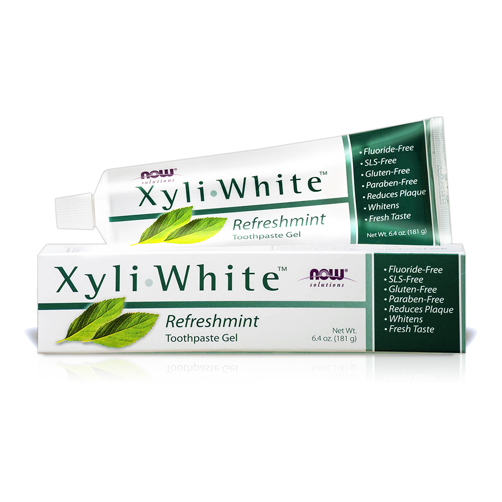 NOW XyliWhite™ 沁涼暢快薄荷牙膏(6.4OZ/181g)效期2021/04/30