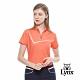 【Lynx Golf】女款吸濕排汗牛仔單寧紋路短袖立領POLO衫-橘色 product thumbnail 2