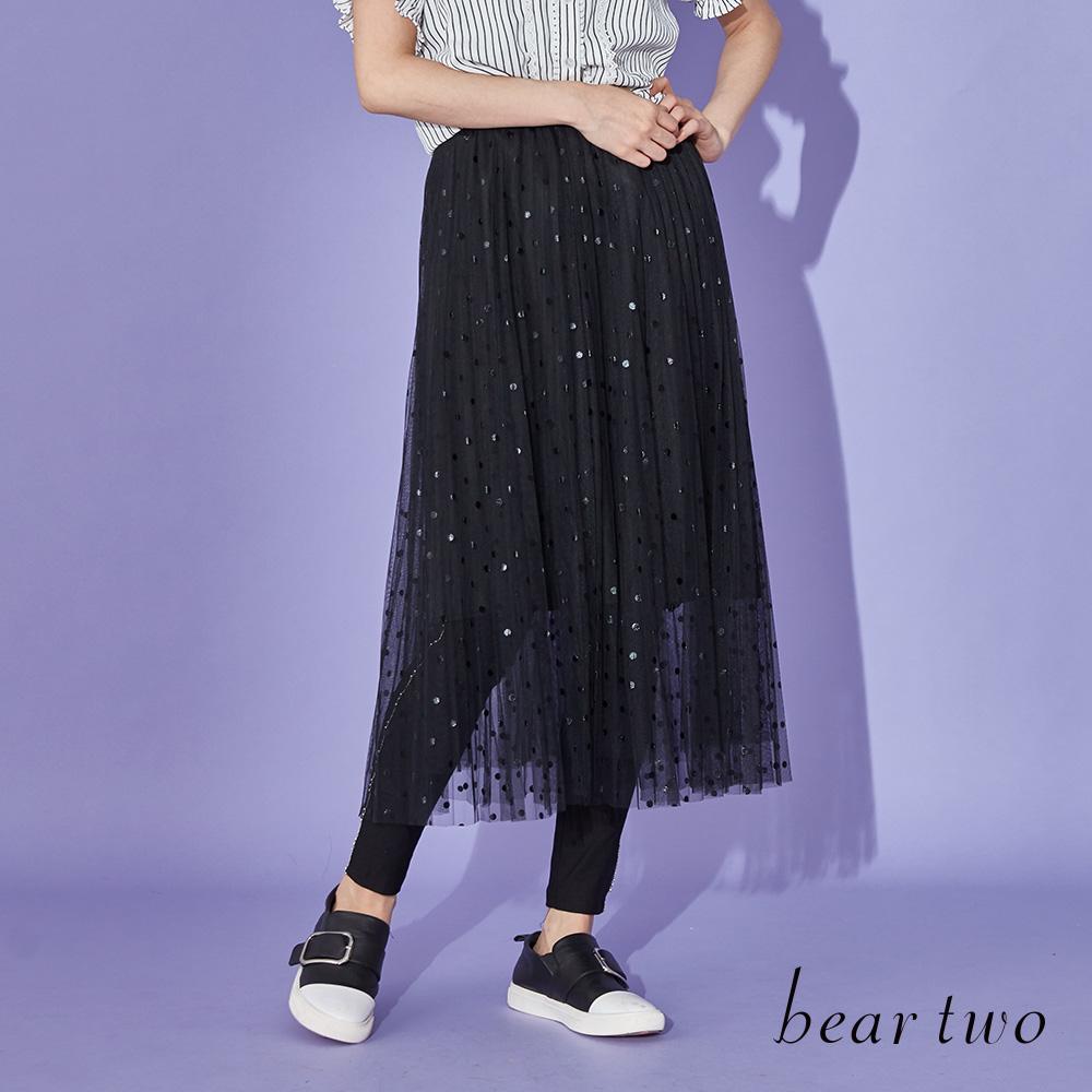 beartwo 素面側邊設計好搭窄管褲(黑色)