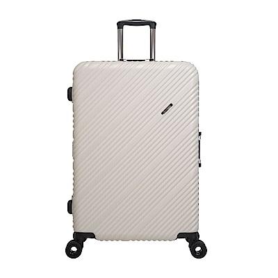 SKYLINE FRAME-28吋旅行箱-淡黃金銀點紋 OD9077A28WT