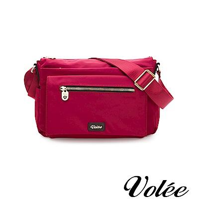 Volee好旅行系列多層拉鍊肩背包-美國紅