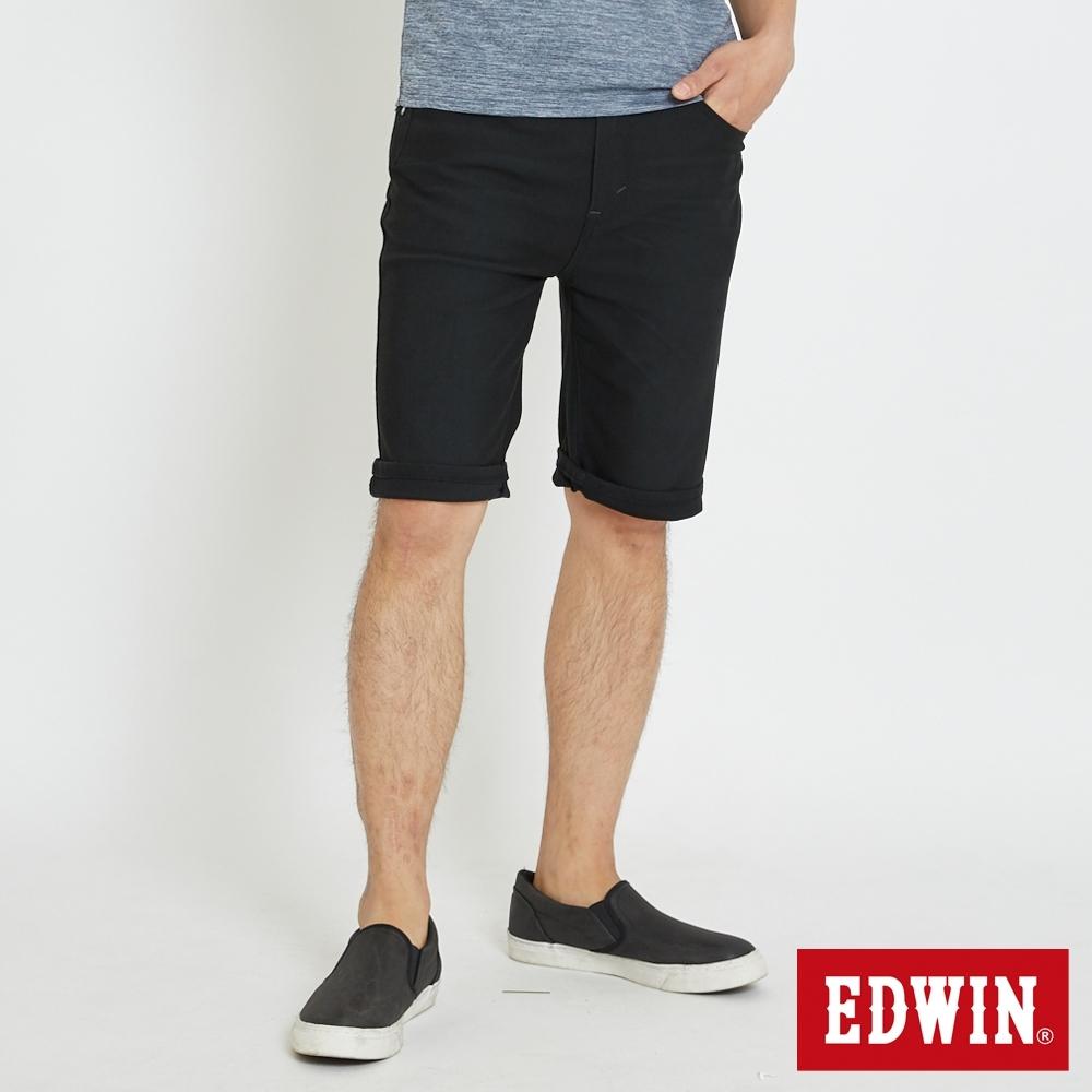 EDWIN JERSEYS 加大碼 迦績涼感短褲-男-黑色