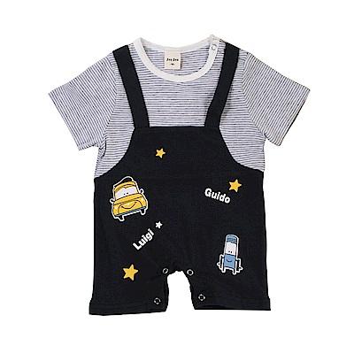 假兩件吊帶短袖連身衣 k51136 魔法Baby