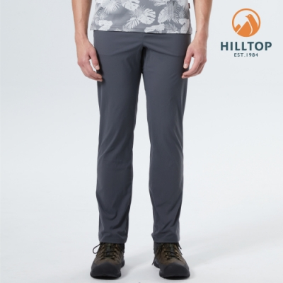 【hilltop山頂鳥】男款TORAY超潑水抗UV彈性長褲S07MD7灰