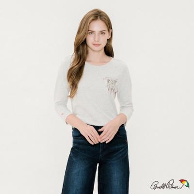 Arnold Palmer -女裝-主題圖案七分袖印花T恤-灰
