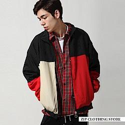 休閒運動拼接夾克外套(12色) ZIP日本男裝