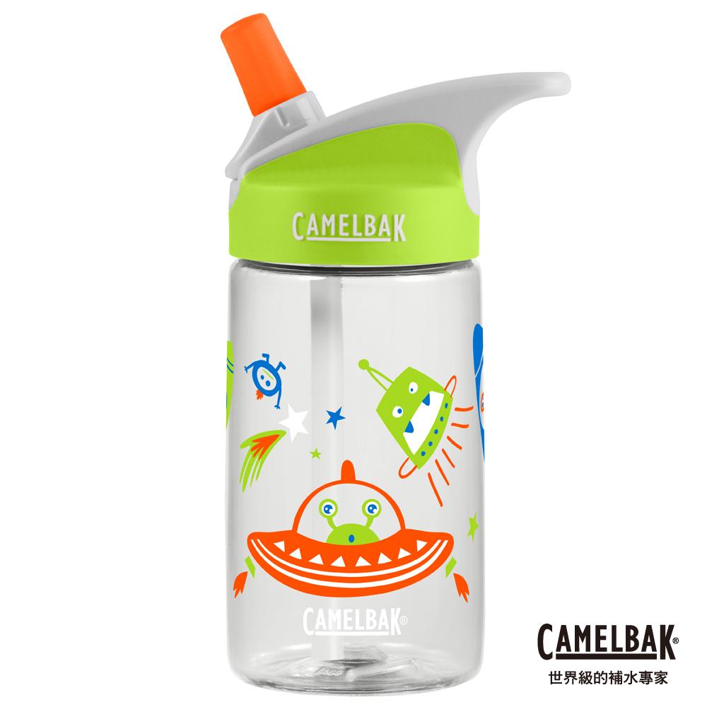【美國 CamelBak】400ml eddy兒童吸管運動水瓶 頑皮外星人