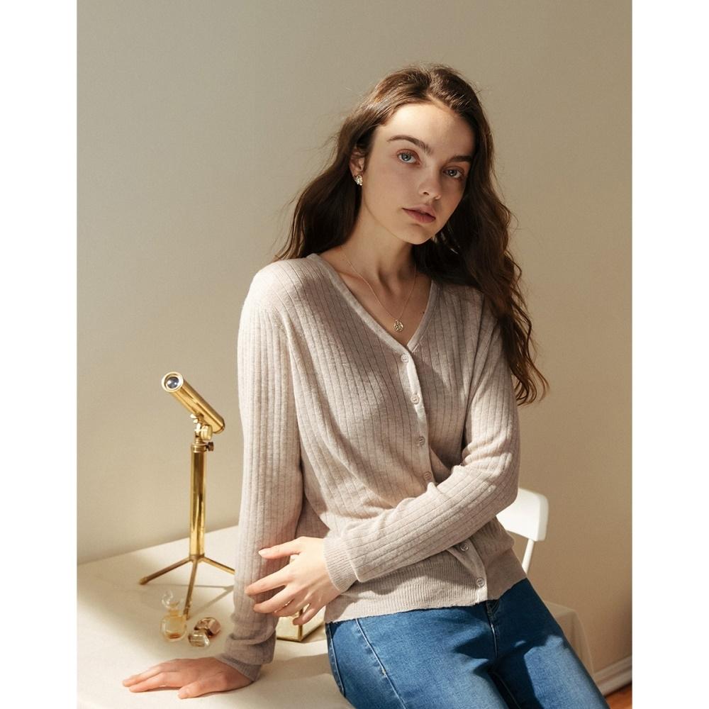 Shester55-坑條開襟針織衫(三色)-女【A2SH027】