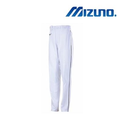 Mizuno 美津濃 男棒壘褲(全長寬褲口型) 白 12TD8M0801