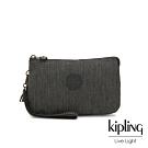 Kipling 復古質感丹寧黑三夾層配件包-大-CREATIVITY XL